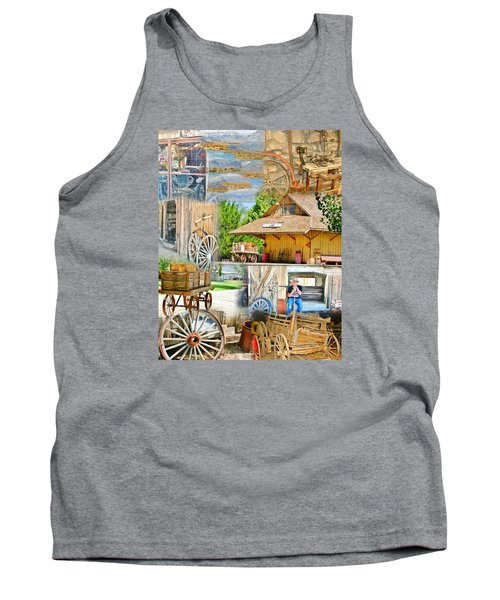 Tank Top featuring the photograph Old West Collage by Marilyn Diaz