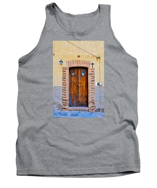 Old Wooden Door - Mexico - Photograph By David Perry Lawrence Tank Top by David Perry Lawrence