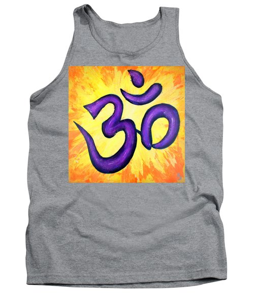 Tank Top featuring the painting Om Symbol Art Painting by Bob Baker