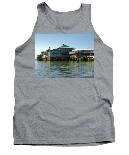 On The Gulf Tank Top by D Hackett