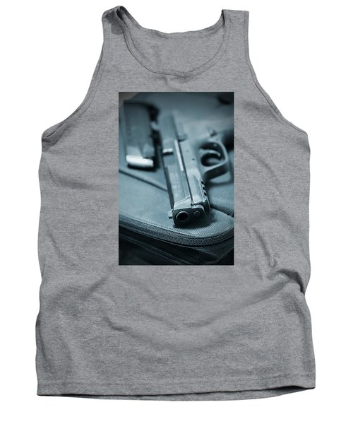 On The Lam Tank Top by Trish Mistric