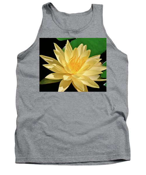 One Water Lily  Tank Top by Ed  Riche