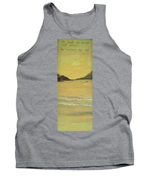 Orange Beach Tank Top by Christy Saunders Church