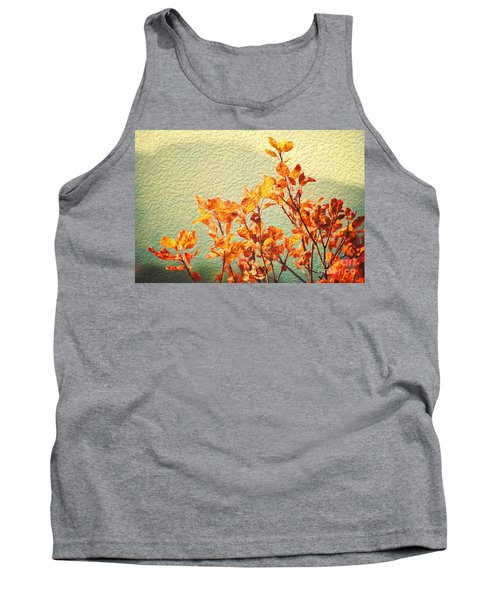 Tank Top featuring the photograph Orange Leaves by Yew Kwang