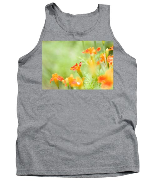 Tank Top featuring the photograph Orange Meadow by Ann Lauwers