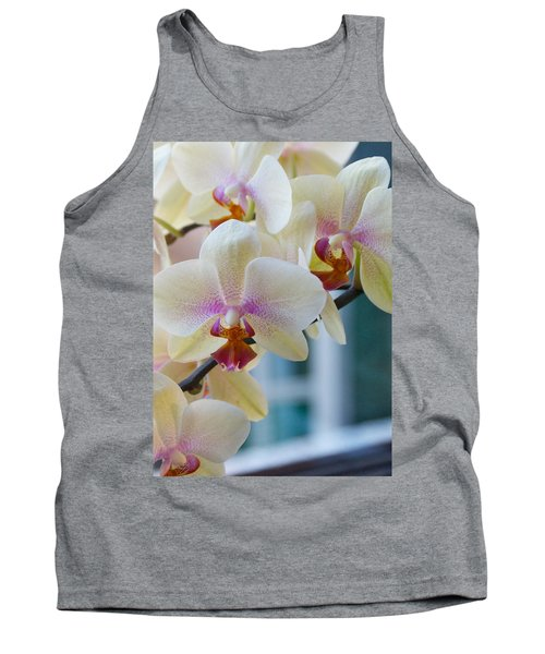Orchids In The Morning Light Tank Top by Debbie Karnes