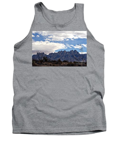 Organ Mountain Landscape Tank Top by Barbara Chichester