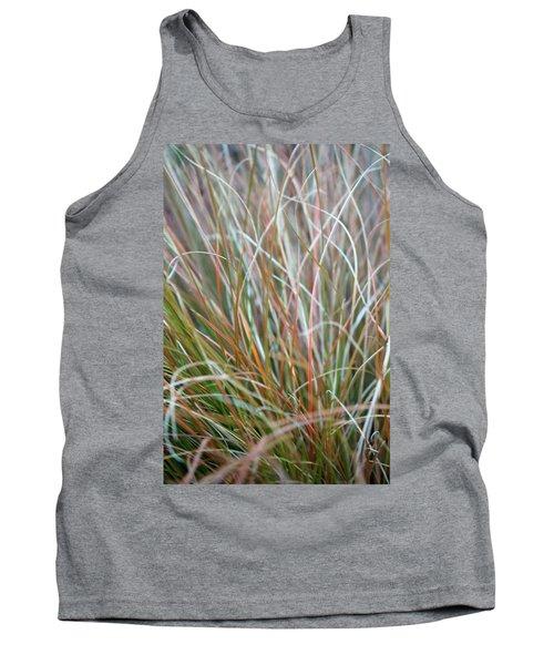 Ornamental Grass Abstract Tank Top by E Faithe Lester