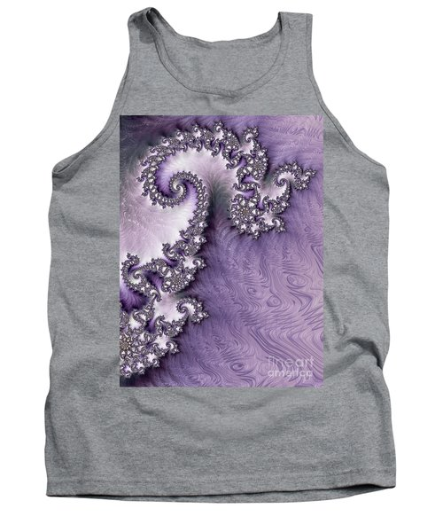Ornate Lavender Fractal Abstract One  Tank Top
