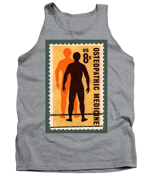 Osteopathic Medicine Stamp Tank Top by Phil Cardamone