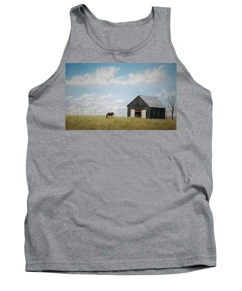 Tank Top featuring the pastel Out For Breakfast by Stacy C Bottoms
