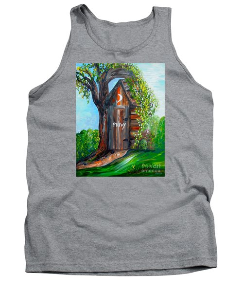 Outhouse - Privy - The Old Out House Tank Top by Eloise Schneider