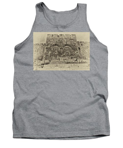 Outside The Eastern Gate Old City Jerusalem Tank Top