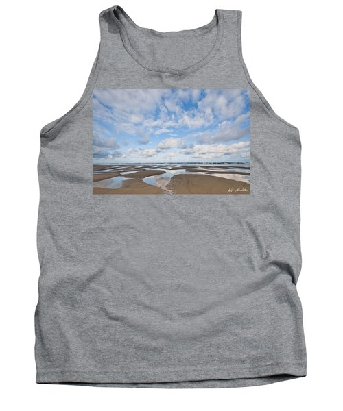 Pacific Ocean Beach At Low Tide Tank Top