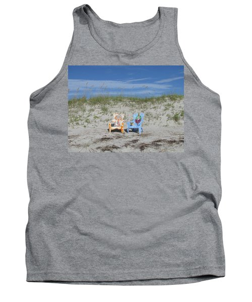 Painted Beach Chairs Tank Top