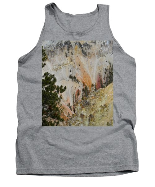 Tank Top featuring the photograph Painted Canyon At Lower Falls by Michele Myers