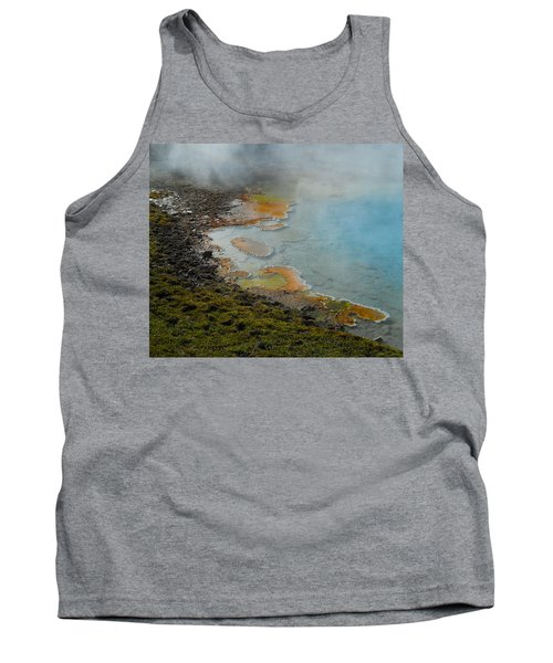 Tank Top featuring the photograph Painted Pool Of Yellowstone by Michele Myers