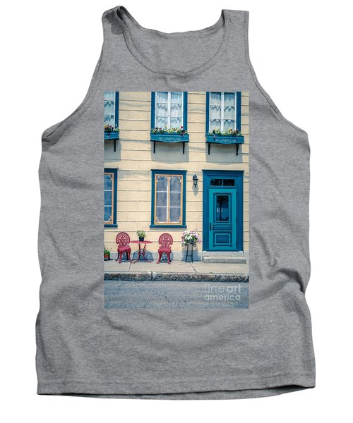 Painted Townhouse In Old Quebec City Tank Top
