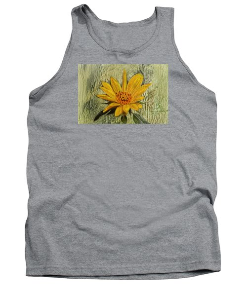 Painterly Sunflower Tank Top by Sandi OReilly