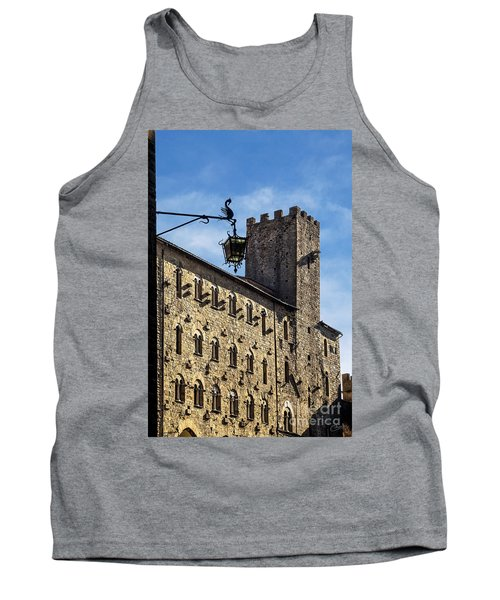Palazzo Pretorio And The Tower Of Little Pig Tank Top