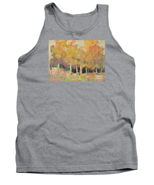 Tank Top featuring the painting Pale Forest by Michelle Abrams