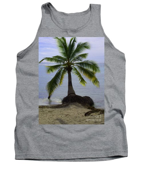 Palm At The Edge Of The Sea Number Two Tank Top