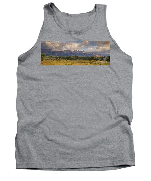 Panaroma Clearing Storm On A Fall Morning In Grand Tetons National Park Tank Top
