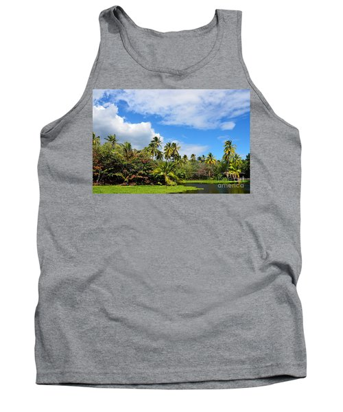 Tank Top featuring the photograph Paradise Lagoon by David Lawson