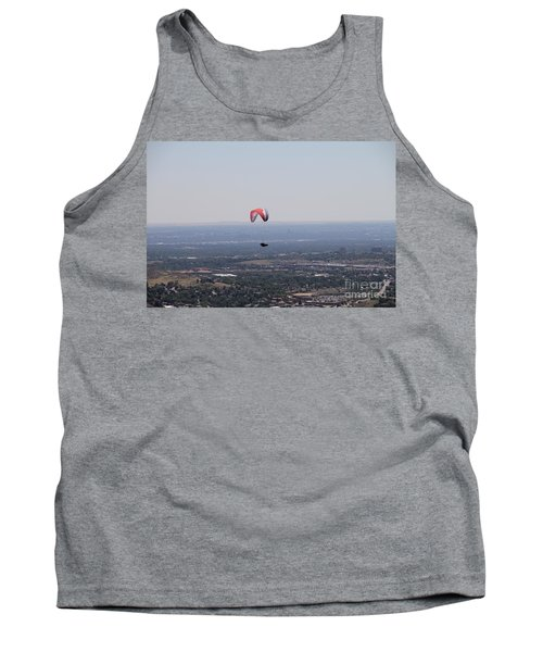 Tank Top featuring the photograph Paragliding Over Golden by Chris Thomas