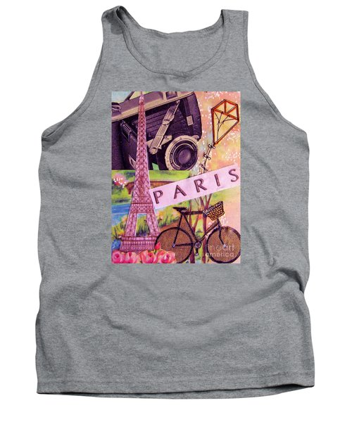 Tank Top featuring the drawing Paris  by Eloise Schneider