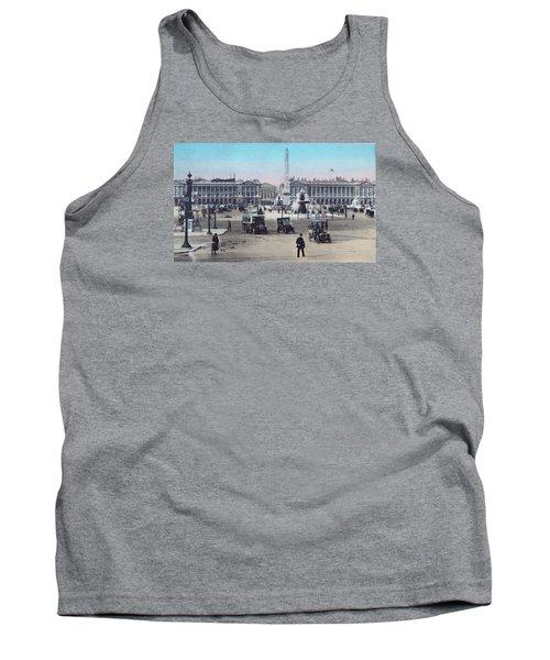Paris Place De La Concorde 1910 Tank Top