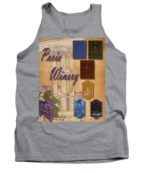 Paris Winery Labels Tank Top