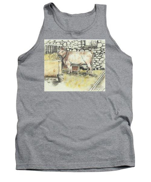 Cow In A Barn Tank Top by Francine Heykoop