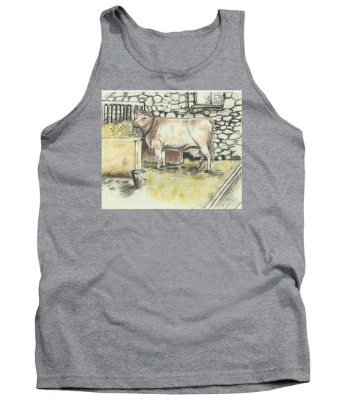 Cow In A Barn Tank Top