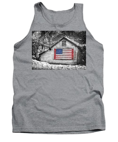 Patriotic American Shed Tank Top