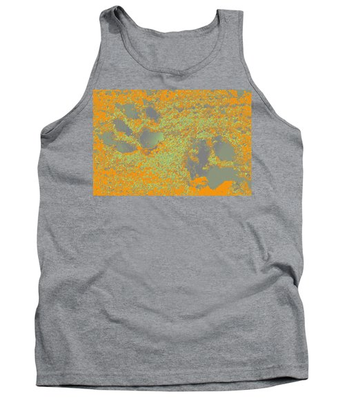 Paw Prints In Orange And Grey Tank Top