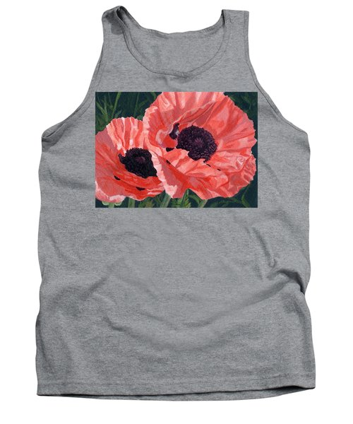 Peachy Poppies Tank Top