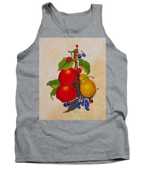 Pear And Apples Tank Top by Johanna Bruwer