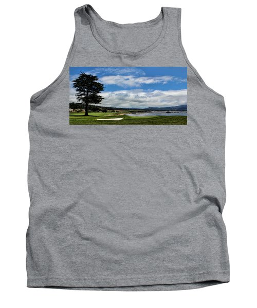 Pebble Beach - The 18th Hole Tank Top by Judy Vincent