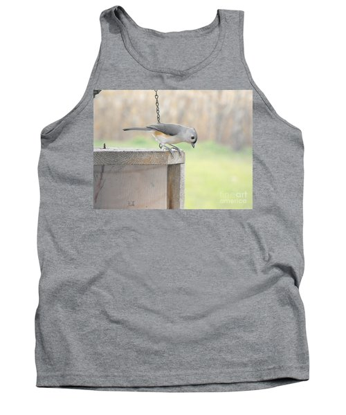 Peeking Chickadee Tank Top