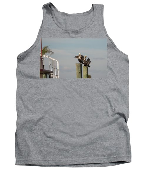 Tank Top featuring the photograph Pelican Buddies by John M Bailey