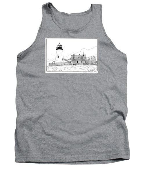 Pemaquid Point Lighthouse Tank Top by Ira Shander