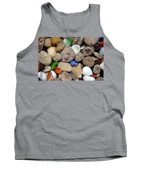 Petoskey Stones Lll Tank Top by Michelle Calkins