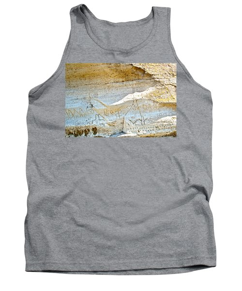 Petroglyphs At Petroglyph Point In Lava Beds Nmon-ca Tank Top