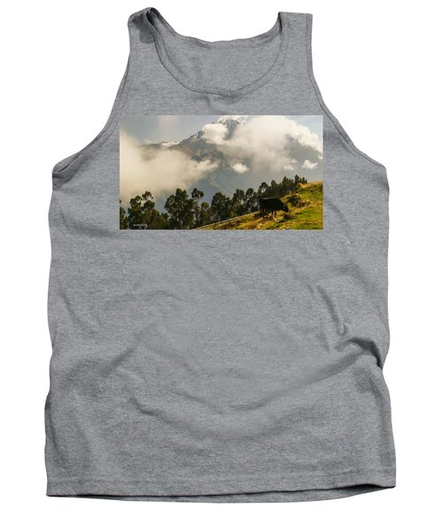 Peru Mountains With Cow Tank Top