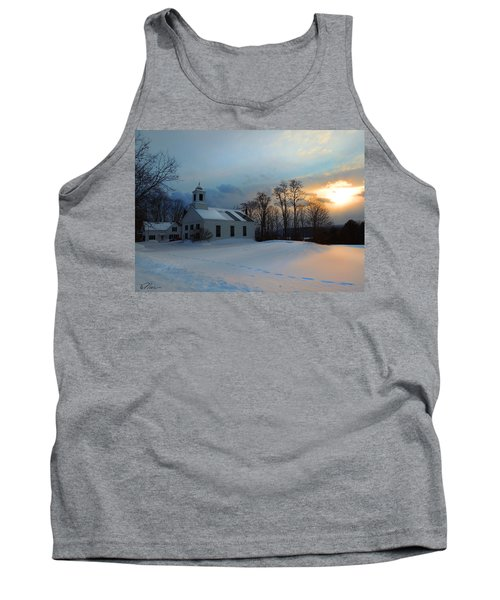 Piermont Church In Winter Light Tank Top