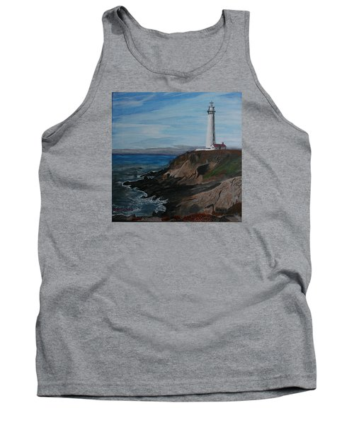 Pigeon Lighthouse Daytime Titrad Tank Top by Ian Donley
