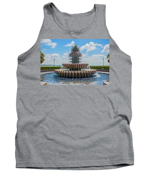 Tank Top featuring the photograph Pineapple Fountain by Sennie Pierson