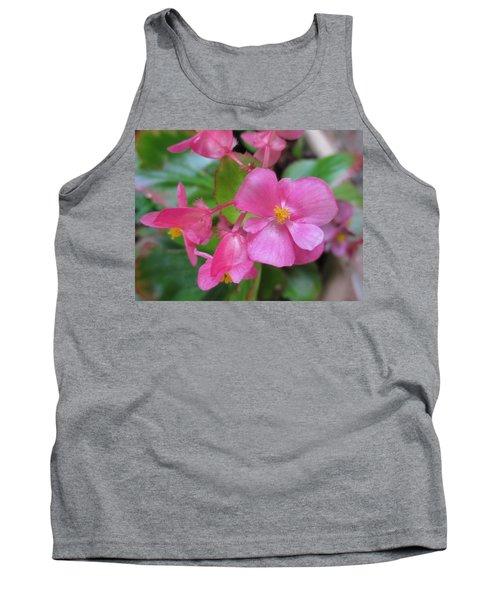 Pink Begonias Tank Top