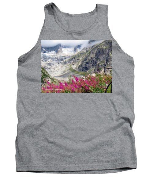 Pink Flowers And Snows Tank Top